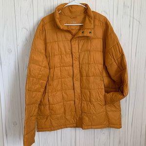 L.L. Bean Mustard Yellow Lightweight Puffer Jacket